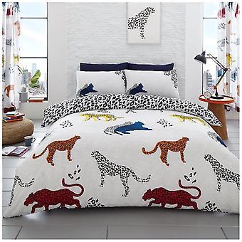 Chita Animal 4 pedaço vida selvagem colcha capa de edredão cama conjunto de fronhas