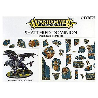 Games Workshop Warhammer idade de Sigmar quebrado Dominion grande detalhe Base Kit