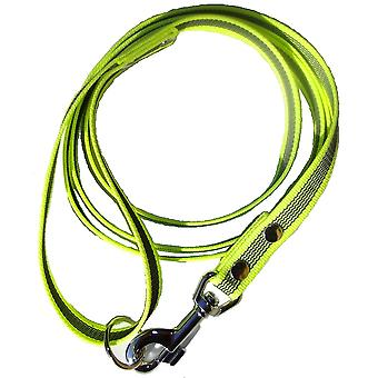 K9-Sport Super-Grip leash with handle, neon yellow