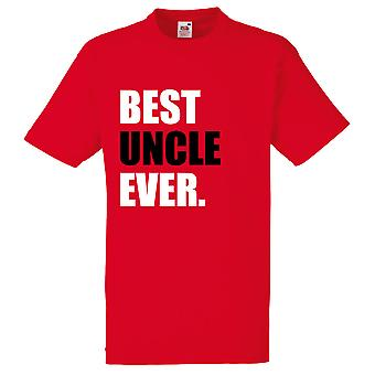 Red Best Uncle Ever Tshirt