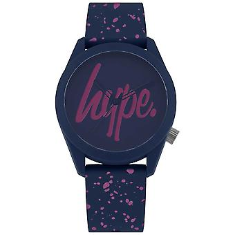 Hype | Womens Navy Purple Paint Silicone Strap | Navy/Purple Dial HYL001UP Watch