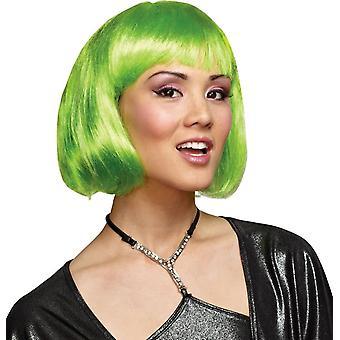 Groene Bob pruik voor volwassenen
