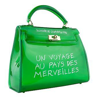 Bolsa transparente-verde translúcido