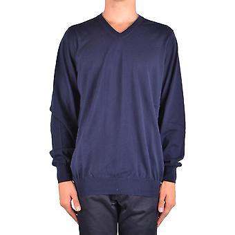 Brunello Cucinelli Ezbc002043 Men's Blue Cotton Sweater