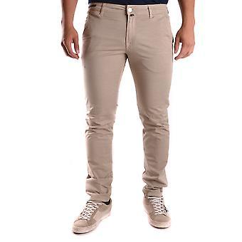 Pt01 Ezbc084024 Men's Beige Cotton Jeans