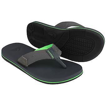 Para hombre Quiksilver Oasis costero II Casual sandalias para la playa - gris/verde
