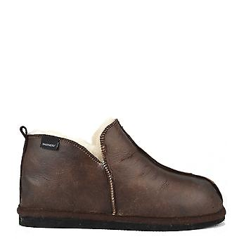 Shepherd of Sweden Mens' Anton Oiled Antique Suede Slipper Boot