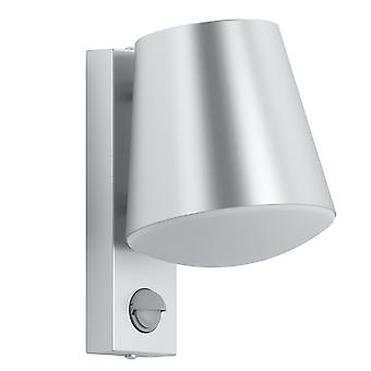 Eglo Caldiero IP44 PIR Outdoor Wall Light In Stainless Steel