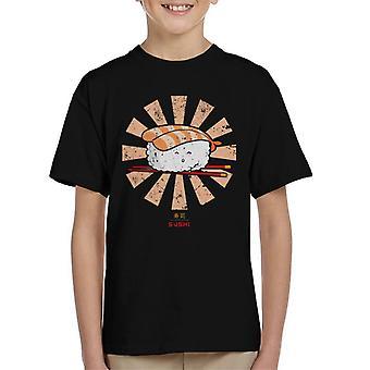 Happy Sushi retro Japanse Kid's T-shirt
