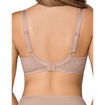 Nipplex Women's Tatiana Mocca Brown Lace Plus Size DD+ Support Full Cup Bra