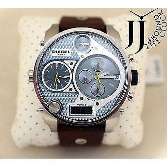 Diesel Dz7332 Black Dial Chronograph Brown Leather Men's Watch