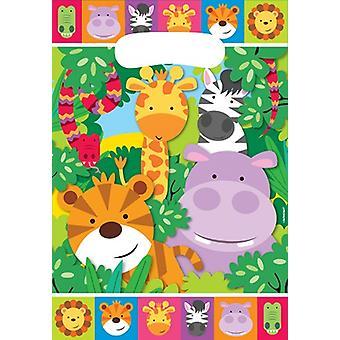 Giungla animali partito partito borse partito Metgebsel 8 pezzo Safari Adventure bambini Wedstag