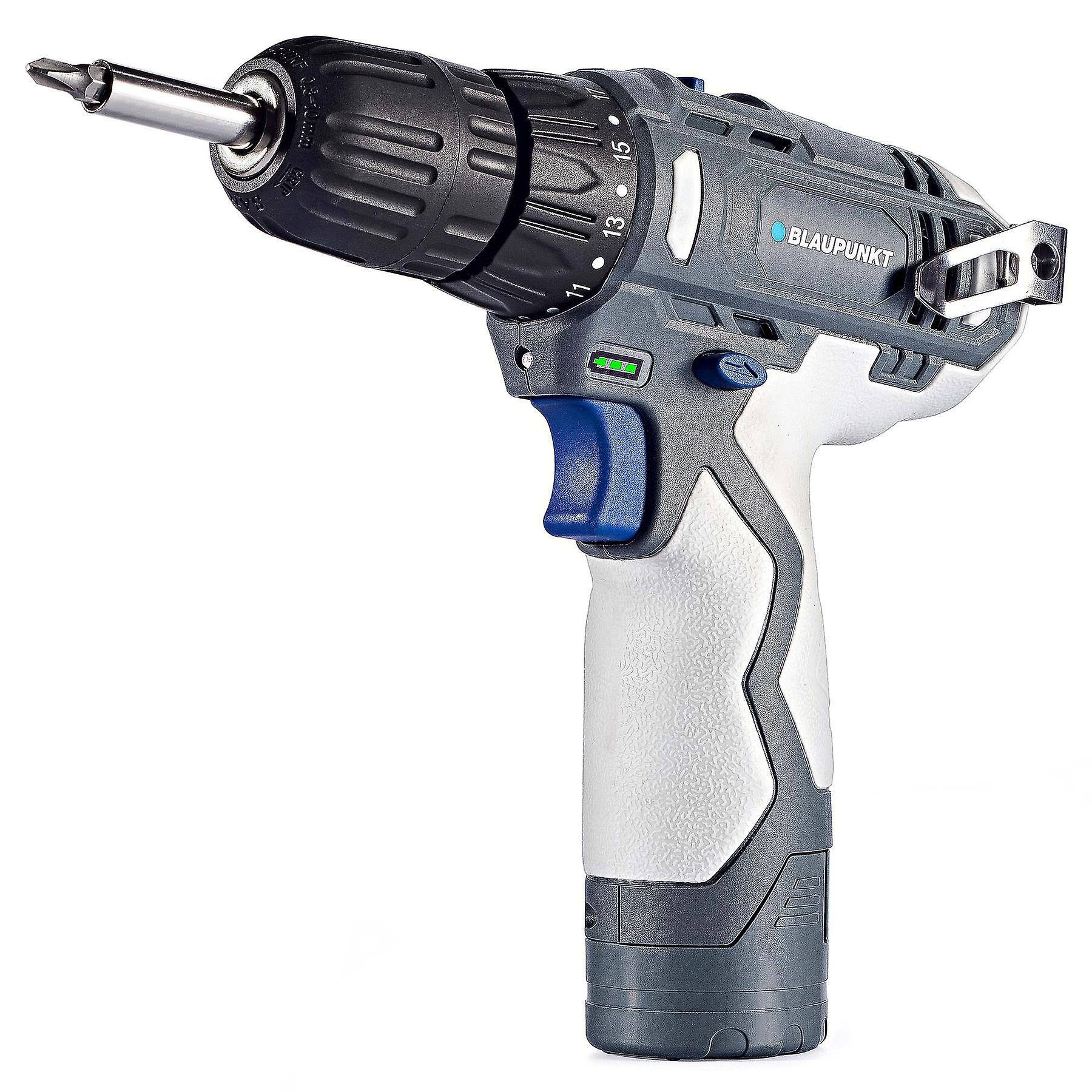 Blaupunkt Compact Cordless Drill Screwdriver - 12V Lithium Ion Battery