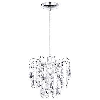 Wofi Carree - 1 Light Pendant Light Chrome - 635701010000