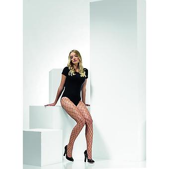 Brugandy Diamond netto Panty's, koorts hosiery, UK grootte 6-18