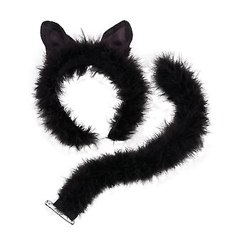 Bristol Novelty Unisex Adults Marabou Cat Set