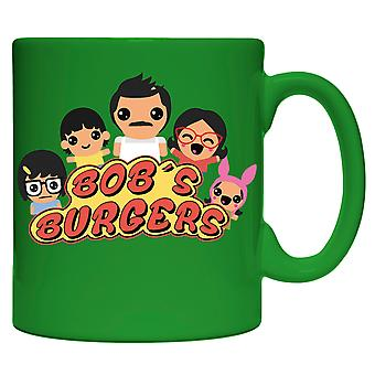Mug Bob's Burgers All Family Green 15oz Coffee Cup cmg15-bob-fmlyani