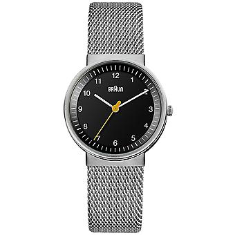 Braun classic Quartz Analog Women Watch with BN0031BKSLMHL Stainless Steel Bracelet