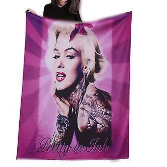 Wild star - pretty in pink marilyn monroe - fleece/throw/tapestry