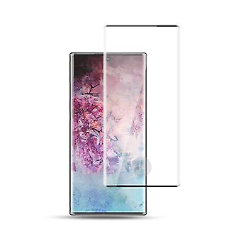 For Samsung Galaxy Note 10 N970F 2x 4D Premium 0.3 mm H9 buet hardt glass svart folie beskyttende veske nyhet