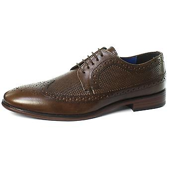 Red Tape Nappa Brown Mens Lace Up Brogue Shoes