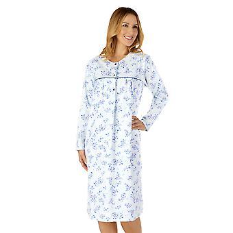スレンデラND4210女性's織りフローラルコットンナイトドレス