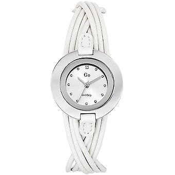 Watch GB 698114 - white fashion leather woman