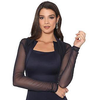 KRISP Ruched Shrug Bolero Cardigan Mesh Lace Short Cropped Top Party Evening Prom 7537
