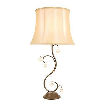 Elstead - 1 lampe de table légère Patina bronze - LUN/TL BRONZE