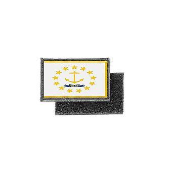 التصحيح ecusson يطبع شارة العلم الولايات المتحدة الأمريكية الولايات المتحدة رود آيلاند