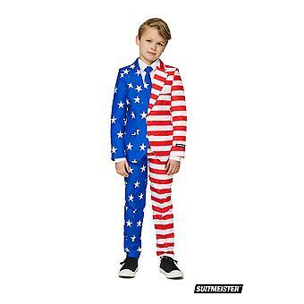 Etats-Unis Mister America Flags Kids Suit SuitSuitMaster Slimline Premium 3-pièces