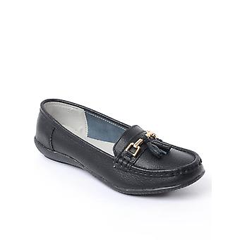 Chums señoras cuero mocasines zapato