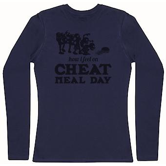 How I Feel On Cheat Meal Day - Womens Long Sleeve T-Shirt
