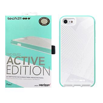 Tech21 Evo Elite Active Edition Case for iPhone SE2/8/7 - Reflective Turquoise/Grey