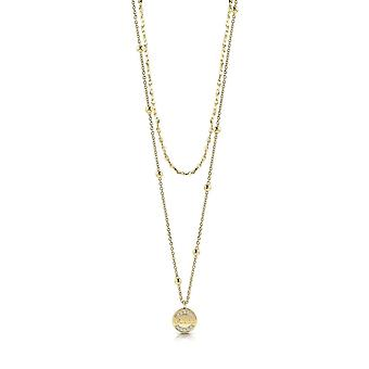 Guess Jewellery Guess Gold Plated Pendant Swarovski Crystals Necklace UBN28032