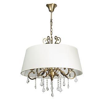 Glasberg - mosiądz pięć światła wisiorek z cienia i kryształy 355011905