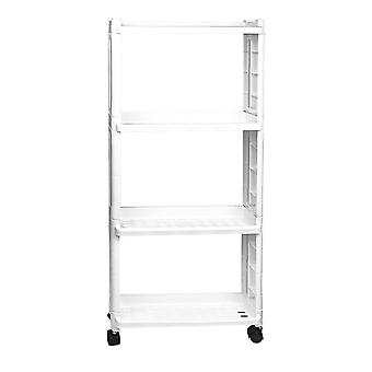 Storage shelf with wheels