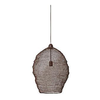 Light & Living Nordic Wire Mesh Hanging Pendant Lamp Pendant. 45x60Cm. Nikki Wire Rust