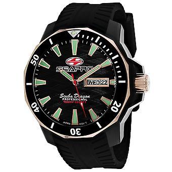 Seapro Men's Scuba Dragon Diver Edición Limitada 1000 Metros Reloj De Marcado Negro - SP8320