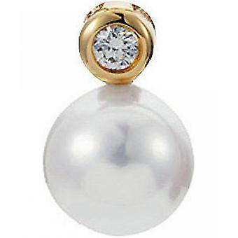 Yana Nesper Bead Pendant Akoya Pearl, 750 Yellow Gold, Diamond 0.05ct. AP12-7