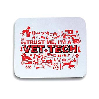 Tappetino mouse pad bianco gen0641 im a vet tech