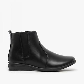 Dr Keller Martha Ladies Pu Ankle Boots Black