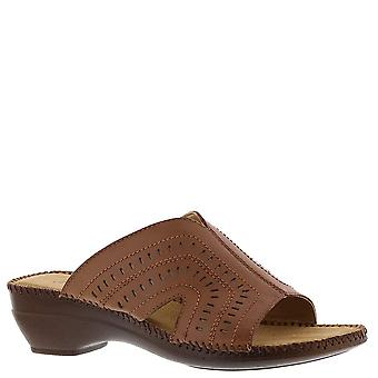 Auditions Womens Kelly Open Toe Casual Slide Sandals