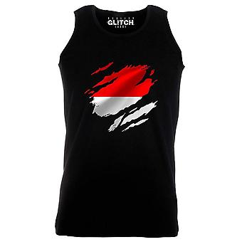 Reality glitch torn monaco flag mens vest