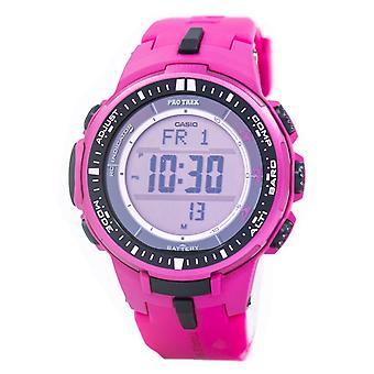 Casio Protrek Atomic hård sol tredobbelt sensor pink PRW-3000-4B PRW3000-4B Watch