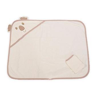 Cangaroo bath towel Baloo 16001, baby bath towel with hood and wash glove