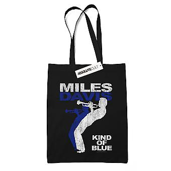 Miles Davis Kind Of Blue Distressed Tote Bag