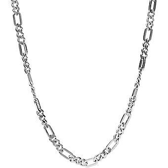 Fossiele kraag en hanger JF03175040-heren jurk zilver 65-5 cm mannen staal