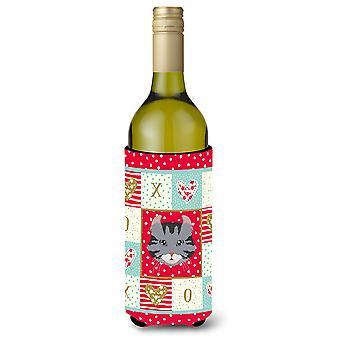 American Curl Cat Wine Bottle Beverage Insulator Hugger