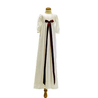 Dopklänning Med Bred Vinröd Rosett, Grace Of Sweden Pr.la